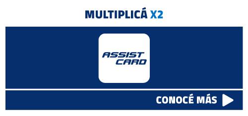 multiplicá x2 tu millas con AssitCard