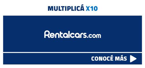 multiplicá x10 tu millas con rentalcars.com